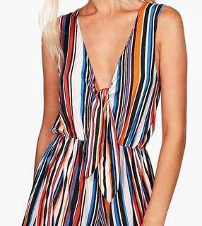 Stripe colour jumpsuit