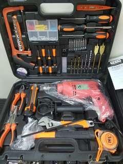 Drill + tools