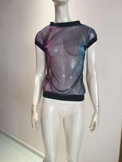 Colourful transparent blouse