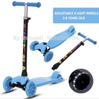 Kids Scooter 4 wheels with LED lights skate kid scooter