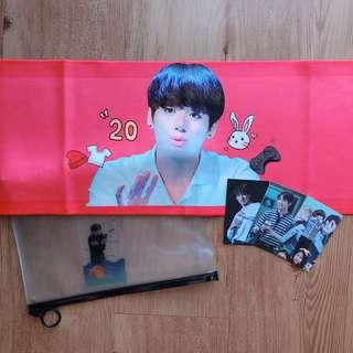 [PLEASE CHECK PHOTOS] BTS JUNGKOOK FANSITE SLOGAN SET