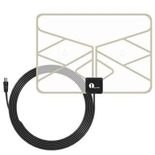 P9 1byone 0.5 mm Paper Thin TV Aerial Amplified Indoor TV Antenna Transparent Window Aerial with 3 Meters High Performance Cable