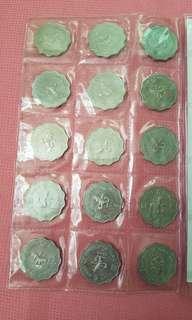 女皇像兩圓75年-92年共15個