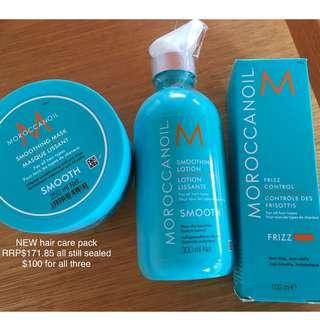 FREE POST Moroccanoil argan oil hair care bulk buy pack trio full sized brand new