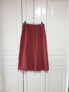 Vintage Red Polka Skirt (High Waisted)