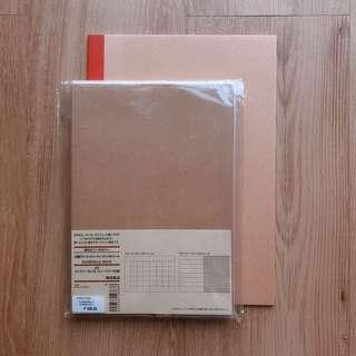 MUJI SCHEDULE NOTE/PLANNER (NO DATES) & UNLINED NOTEBOOK BUNDLE