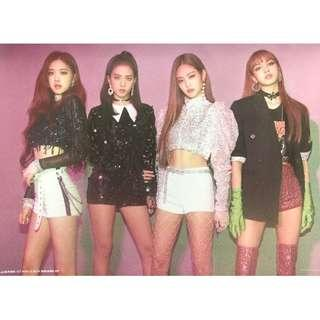 Blackpink Square-Up Double-Sided Poster [Official] KPOP