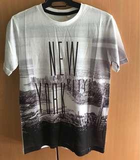 New york print shirt