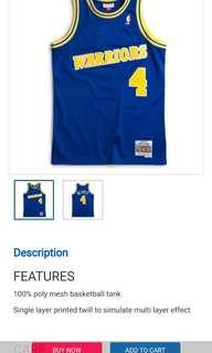 Nba jersey, size L, Golden state warrior No. 4, Webber 100% new with tag