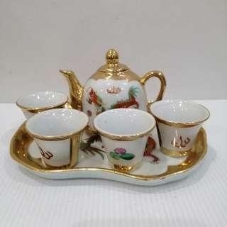 Jingdezhen Dragan & Phoniex Small Tea Set