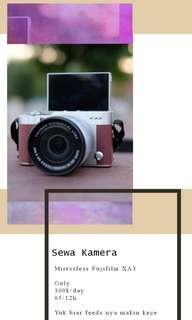 Sewa kamera mirrorless fujifilm xa3