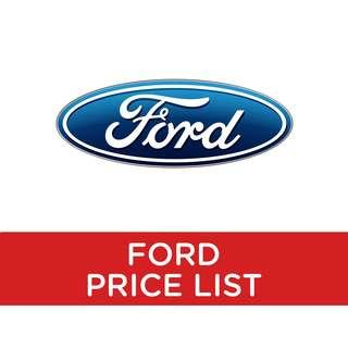 Ford: Price List