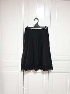 Vintage Pleated Skirt with Lace (High Waisted)