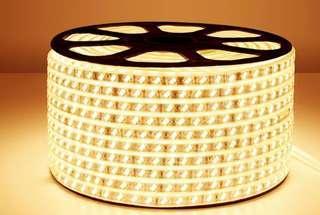 220V 防水燈帶 三色 包電源 全新訂多左 20米 可以裁剪 包遙控