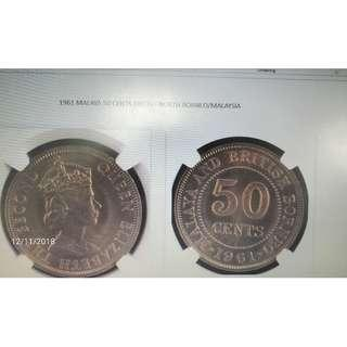 OLD COIN- 1961 50 CENTS COIN