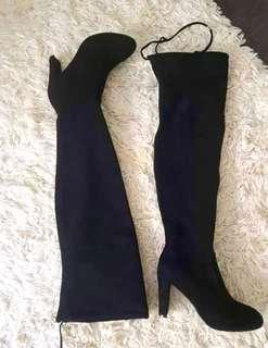Black thigh over the knee boots size 7 worn once!