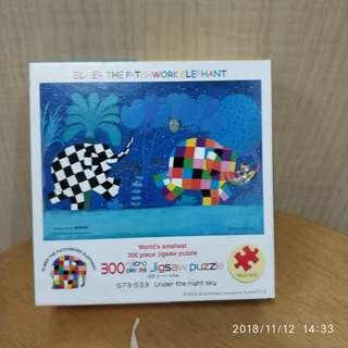 🚚 Puzzle(300 pcs): Elmer the patchwork elephant