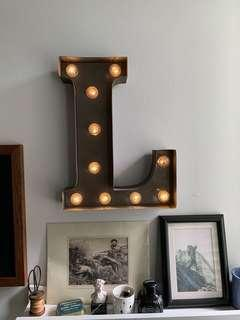Alphabet marquee letter light