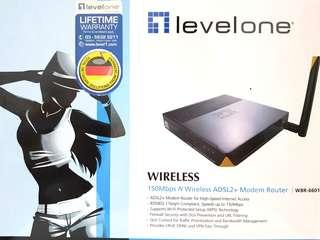 Levelone 150Mbps N Wireless ADSL2+ Modem Router WBR-6601
