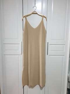 Nude Maxi Dress (Long Dress)