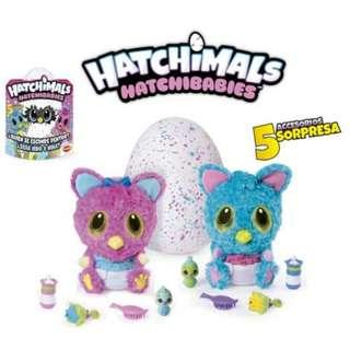 BRAND NEW AUTHENTIC Hatchibabies Hatchimals CheeTree Furby Egg Talking Soft Toy Egg Toys Baby Chee Tree Purple Pink Blue Singing Games Playing Pet Pets For Babies Baby Kid Kids Toy