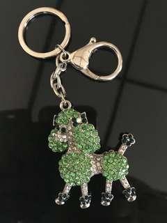 Light-green Poodle Keychain or bagcharm