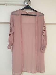Pink Loose Cardigan