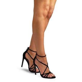 Showpo x Billini Suede Black Heels