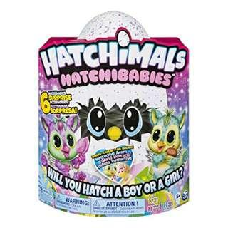 BRAND NEW AUTHENTIC Hatchibabies Hatchimals Chipadee Furby Egg Talking Soft Toy Egg Toys Baby Chip A Dee Purple Pink Blue Singing Games Playing Pet Pets For Babies Baby Kid Kids Toy