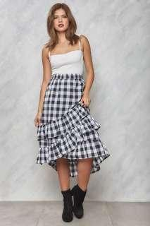 Ruffled Gingham Skirt