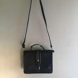 Structured mini handbag with sling