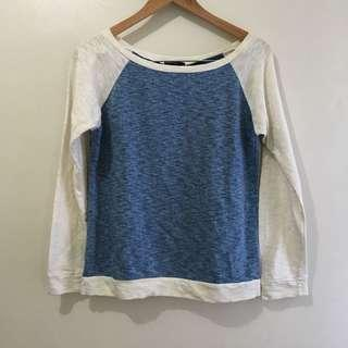Large blue and white pullover