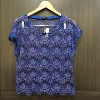 Blue lace cover up