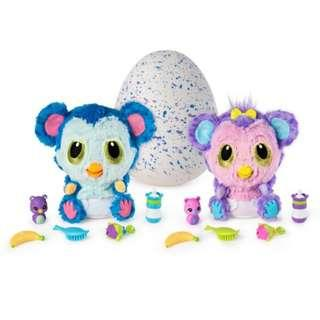LIMITED EDITION AUTHENTIC Hatchibabies Hatchimals Monkiwi Furby Egg Talking Soft Toy Egg Toys Baby Monkey Purple Pink Blue Singing Games Playing Pet Pets For Babies Baby Kid Kids Toy