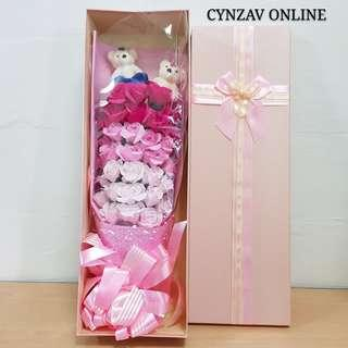 BN 33 Soap Roses Bouquet in Giftbox
