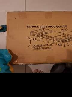 WOODEN School Bus Desk and Chair
