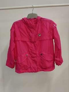 FILA hot pink long sleeves waterproof overcoat