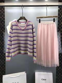 Preowe Chole Stripe Sweater