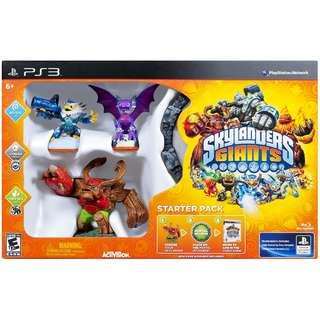 NEW IN BOX Authentic Sony PlayStation 3 PS3 PlayStation3 Skylanders Giants Starter Game Pack With Video Game CD Gaming Console