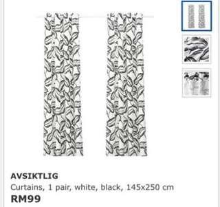 Ikea (New) Avsiktlig Curtain, 1 Pair (145x250cm)