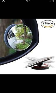 360 Degree Framless Blind Spot Mirror Wide Angle Round HD Glass Convex Rear View Mirrors