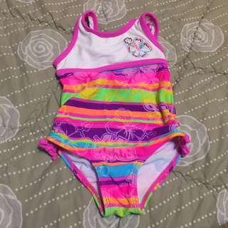 OP Girl's Colorful Rainbow Swim Suit 18M