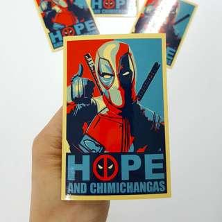 DeadPool HOPE Sticker - 7cm(W) X 10cm(Ht)