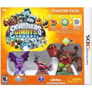 BRAND NEW Authentic Nintendo 3DS Starter Game Pack Skylanders Giants With Video Game CD Gaming Console