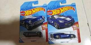 Hotwheels Corvette then and now set
