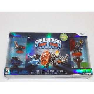 BRAND NEW Authentic Wii Nintendo Dark Edition Skylanders Trap Team Starter Game Pack With Video Game CD Gaming Console