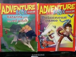 HK$38/2 Books, Adventure Box (Katarina the red witch), (Poisonous game)