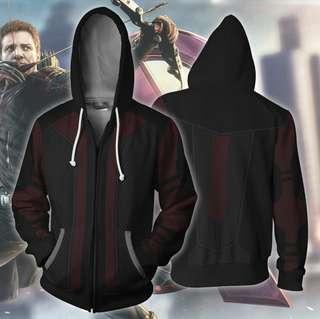 Avengers Hoodies - Hawkeye V2 Cosplay Zip Up Hoodie
