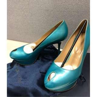 Sergio Rossi Platform Pump size 36.5 with dust bag and shoe box