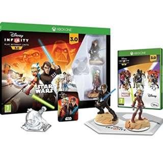 BRAND NEW Authentic Xbox One Microsoft Disney Infinity Star Wars 3.0 Starter Game Pack With Video Game CD Gaming Console